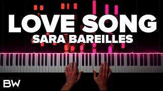Love Song - Sara Bareilles | Piano Cover by Brennan Wieland