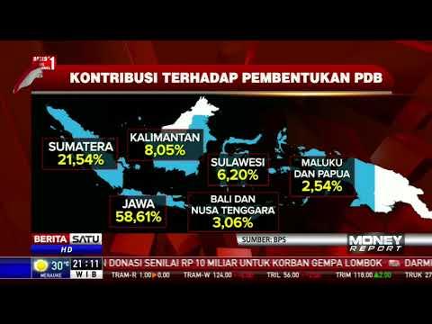 Kontribusi Pertumbuhan Ekonomi RI Didominasi Jawa Dan Sumatra
