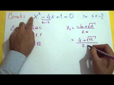 2. Dereceden Denklemler 3 Şenol Hoca Matematik