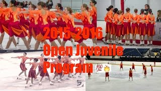 My 2015-2016 Open Juvenile Synchronized Skating Program!!!
