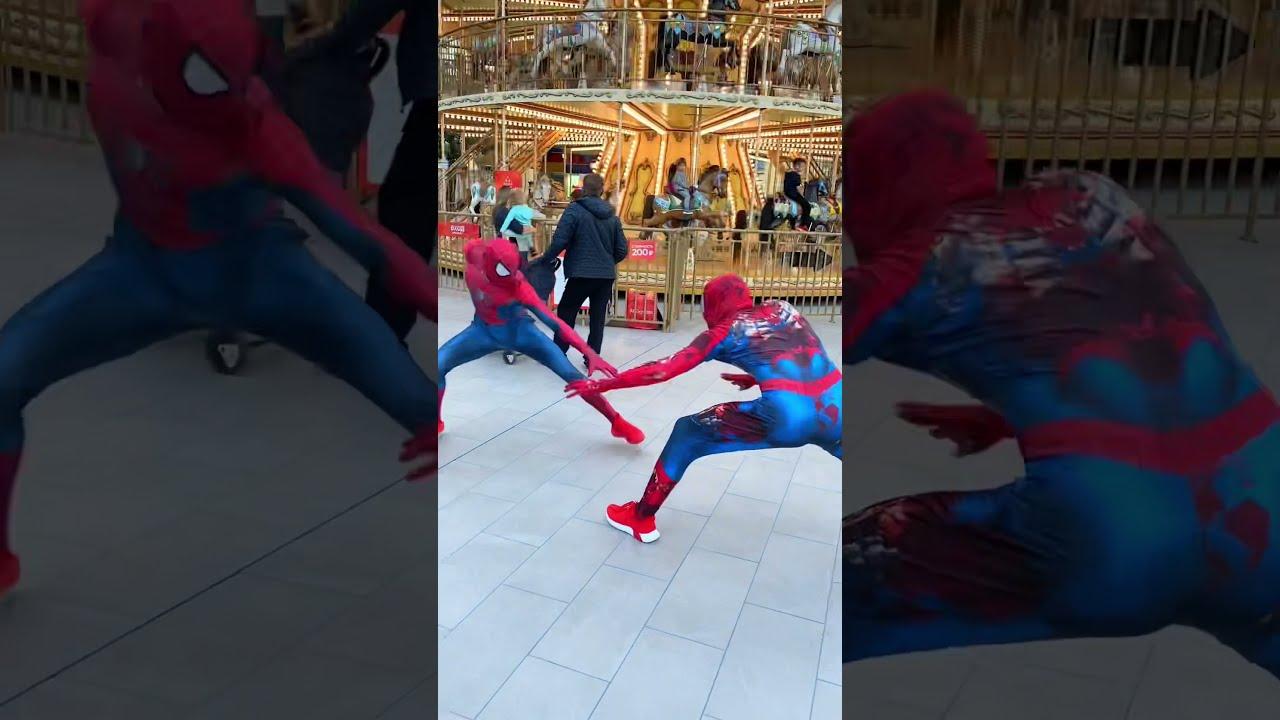 Spiderman Funny Videos😂#shorts