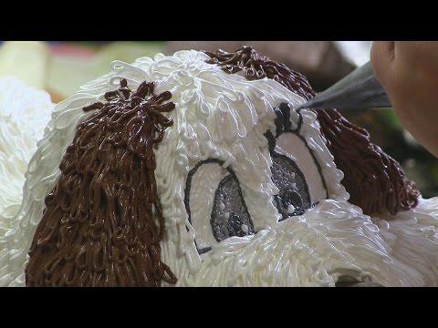 Торт собака в домашних условиях видео
