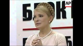 Tymoshenko comments on deal with Yushchenko; reax