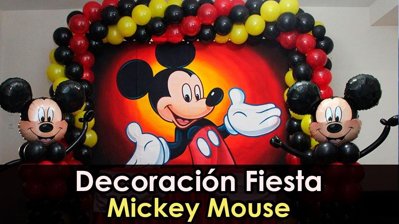 Decoracion fiesta mickey mouse youtube - Decoracion para fiestas infantiles mickey mouse ...