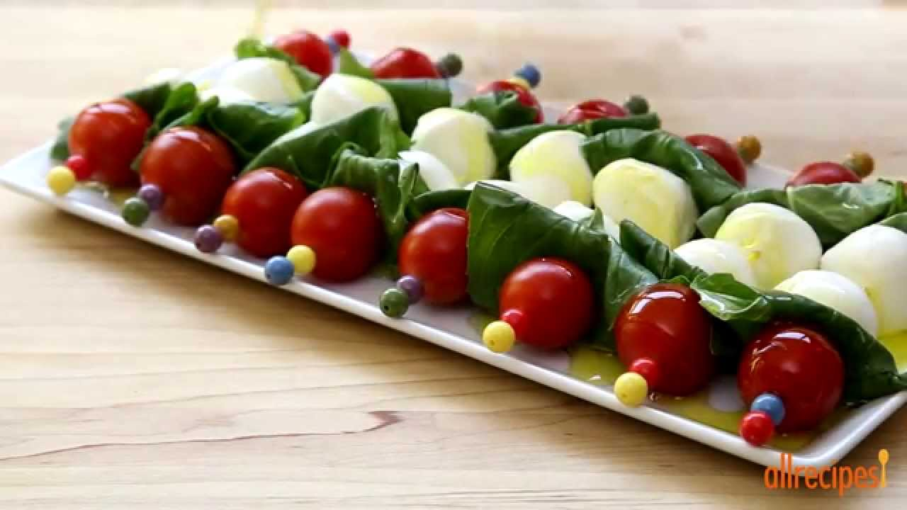 How to Make Caprese on a Stick | Salad Recipes | Allrecipes.com - YouTube