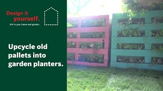How To: Upcycle Old Pallets Into Garden Planters