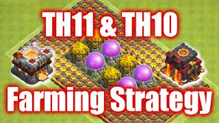Clash of Clans - TH11 and TH10 Farming Strategy