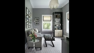 Organizing Tips to Use Today in Your Small Home Office | Small Home Office Design Ideas Gray