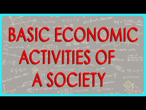 1335.Economics   Basic economic activities of a society