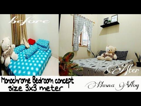 dekorasi kamar tidur monokrom - youtube