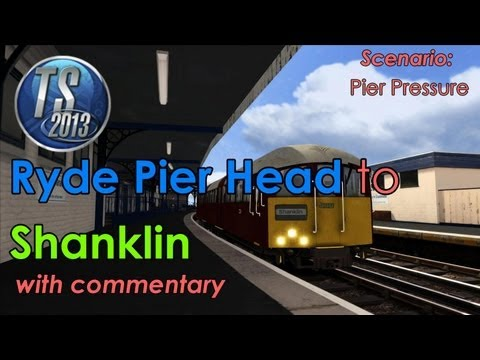 Isle of Wight 1938 Stock: Ryde Pier Head to Shanklin  Train Simulator 2013 [Commentary]