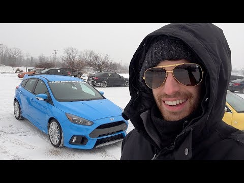 We go ICE RACING in the Ford Performance Modified Focus RS - Drift Stick Shenanigans