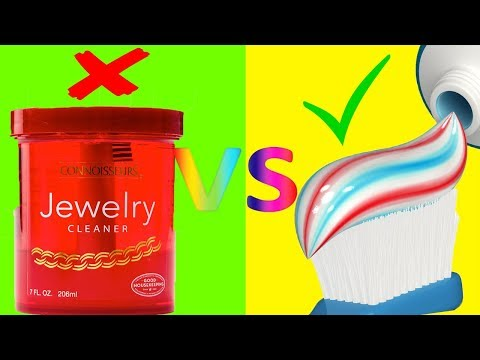 Jewelry HACK that works the BEST (DIY vs. Buy Episode 2) Toothpaste vs Jewelry Cleaner DIY or Buy