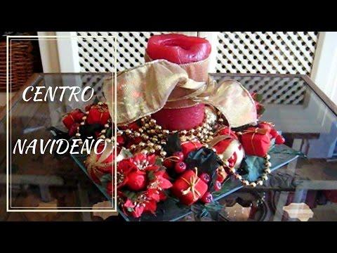 Centro navide o sencillo y econ mico youtube - Youtube centros de mesa navidenos ...
