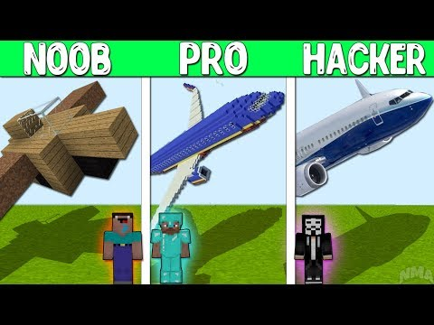 Minecraft Battle : AIRPLANE CRAFTING CHALLENGE - NOOB vs PRO vs GOD Minecraft Animation