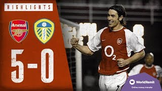 Download THIERRY HENRY SCORES FOUR! | Arsenal 5-0 Leeds United | Classic highlights | 2004