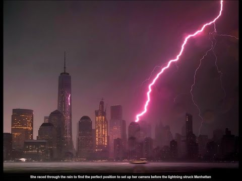 video shows lightning strike the Empire State Building  Daily Mail Online