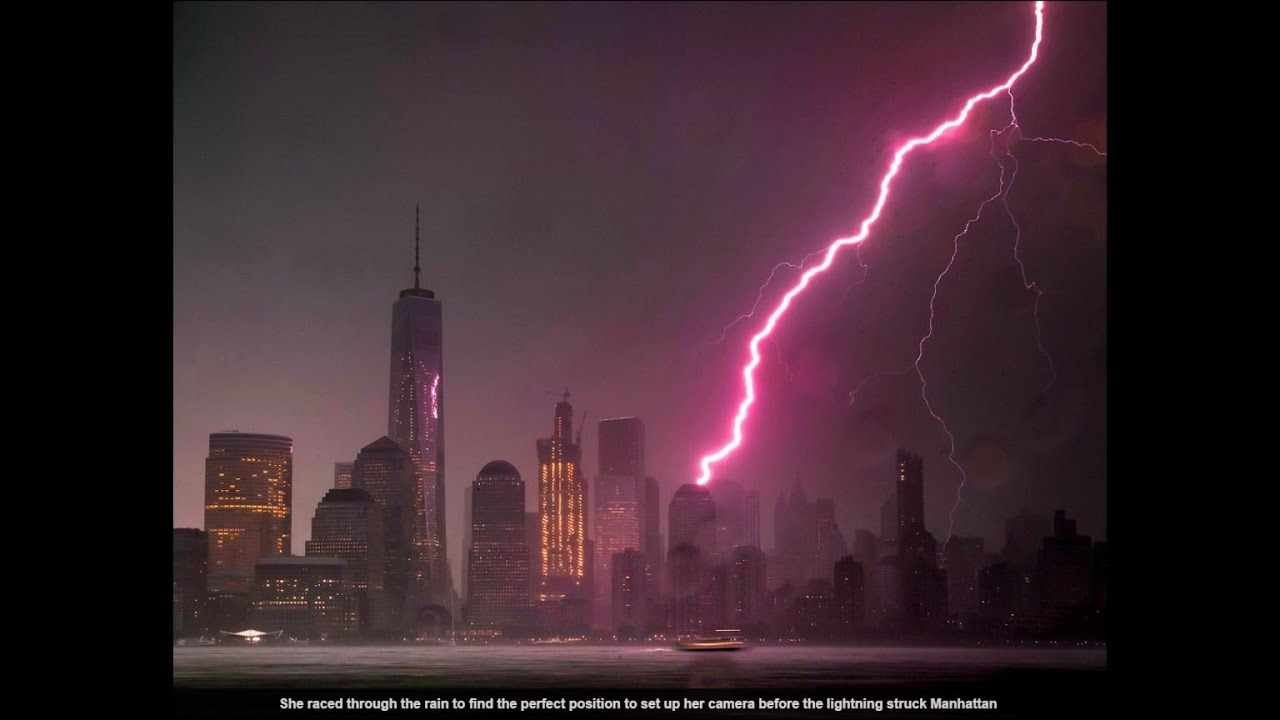 video shows lightning strike the Empire State Building ...