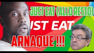 JUST EAT (ALLO RESTO) C'EST DE L'ARNAQUE ! LA PREUVE