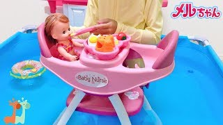 Mell-chan Eats Baby Food at the Pool