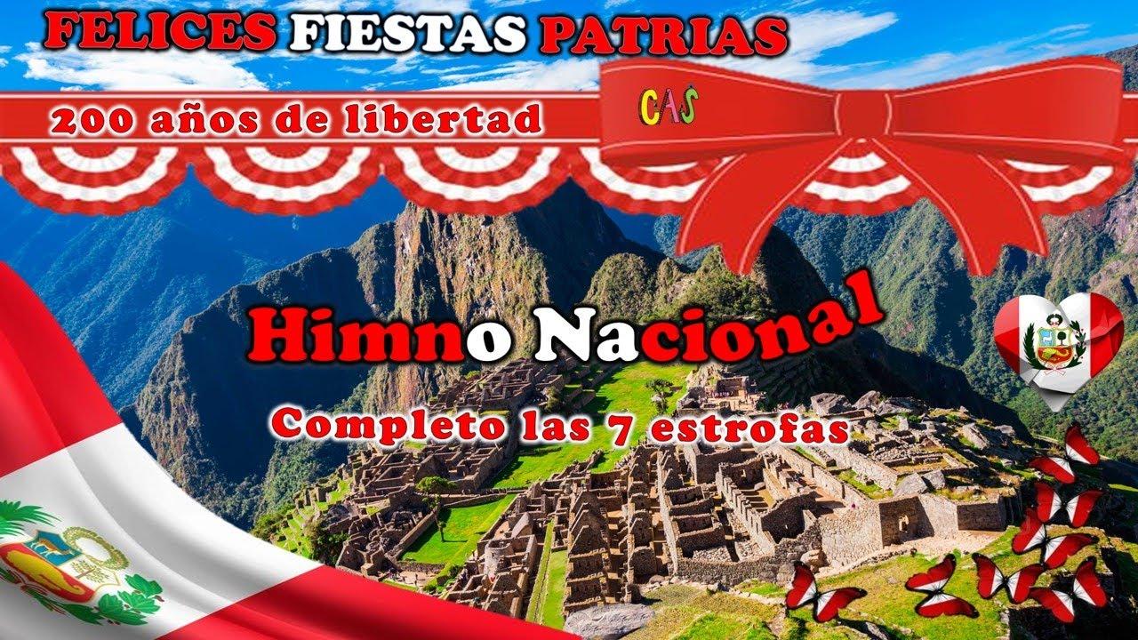 HIMNO NACIONAL COMPLETO 7 ESTROFAS con letra.