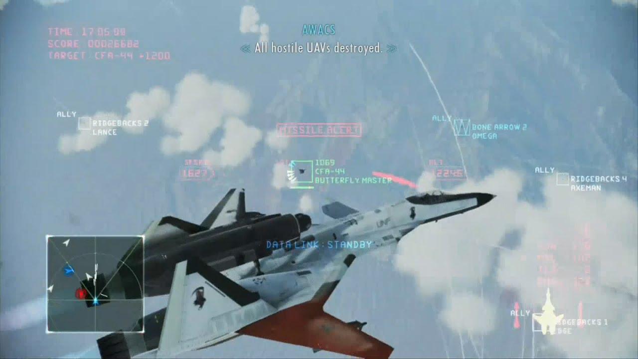 Ace Combat Infinity Mission 7 Area B7r Adfx 01 Morgan Vs