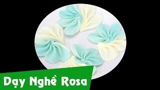 Học làm bánh kem - Sủi hoa socola 5 cánh 2 màu