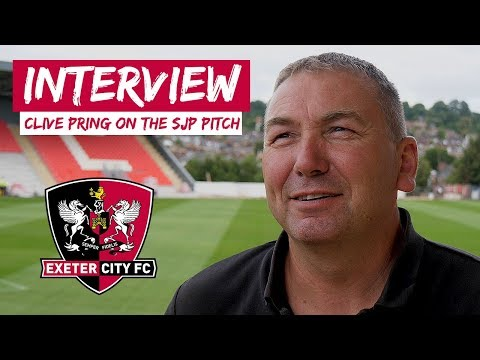 💬 Clive Pring On The St James Park Pitch | Exeter City Football Club