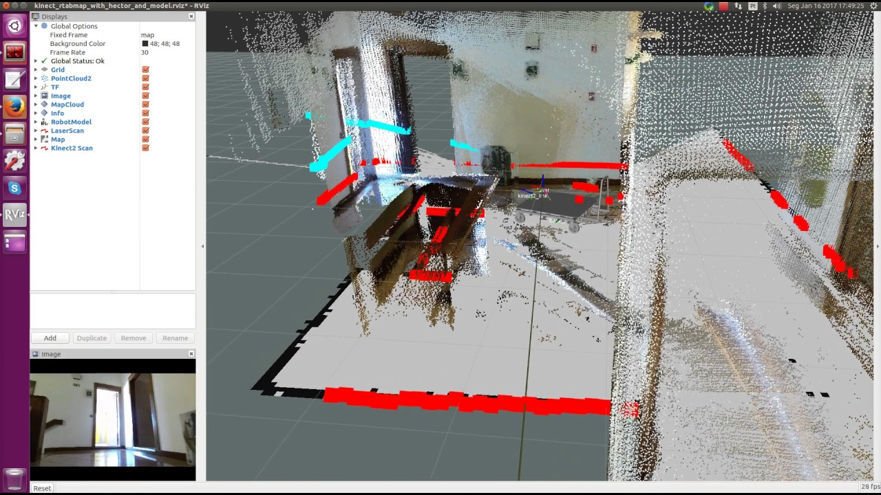 3DMapping with Kinect2 Camera and RPLidar