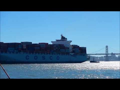 Cosco Long Beach Monrovia Enters Port of Oakland