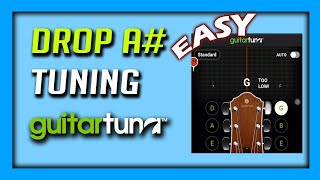 Drop A Tuning using Guitar Tuna  Easy  AFADGC  AzirNA