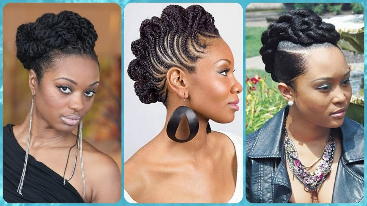 20 New Ideas For Braided Updo Hairstyles For Black Women Youtube