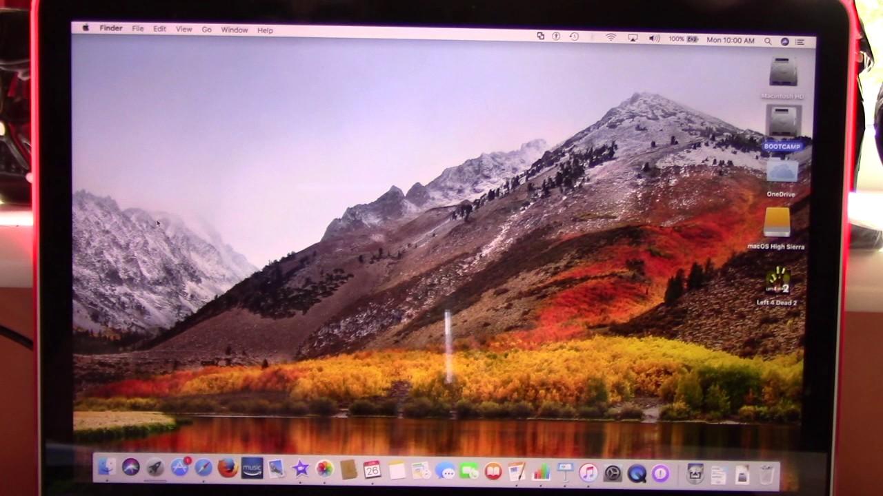 macOS High Sierra on MacBook Pro Retina 13 inch late 2012