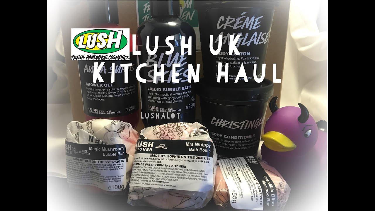 Lush UK Kitchen Unboxing Haul - YouTube