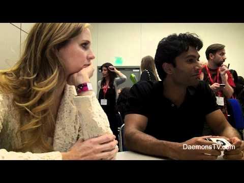 Anne Dudek and Sendhil Ramamurthy Covert Affairs ComicCon 2011