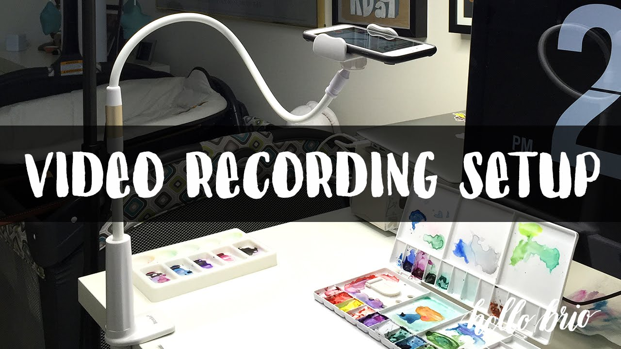 How I Record Instagram and YouTube Art Demo Videos  YouTube