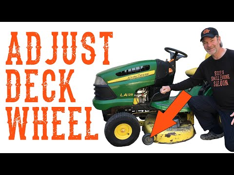 How To Set Or Adjust The Anti Scalp Gauge Wheels On A Riding Mower Or Tractor - Video
