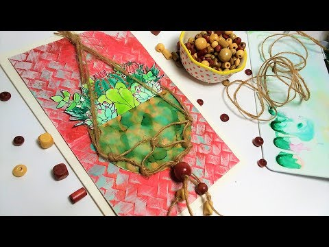 Macrame Inspired Hanging Plant Card