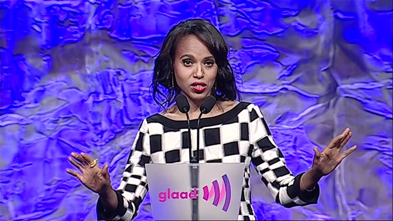 6c290ff6719 Video: Grey's Anatomy creator, Shonda Rhimes, receives Golden Gate Award,  presented by Kerry Washington, Guillermo Diaz and Katie Lowes at  #glaadawards | ...