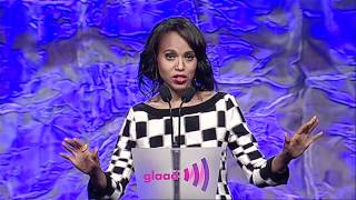 Kerry Washington Presents Award to Shonda Rhimes at the #glaadawards