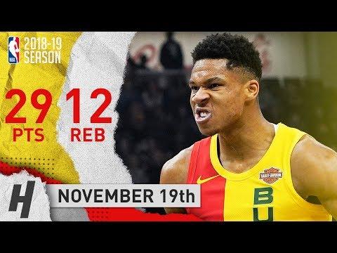 Giannis Antetokounmpo EPIC Highlights Bucks vs Nuggets 2018.11.19 - 29 Pts, 12 Reb, CRAZY DUNKS