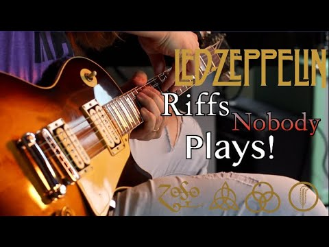 Amazing Led Zeppelin Riffs Nobody Plays!... And How To Play Them!