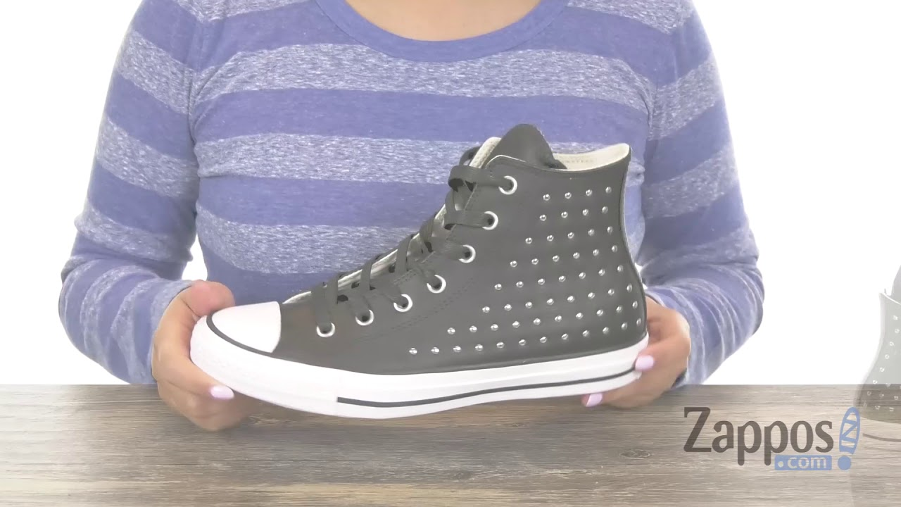 06f88a9920e7a8 Converse Chuck Taylor All Star Leather Studs Hi SKU  9066334. Shop Zappos
