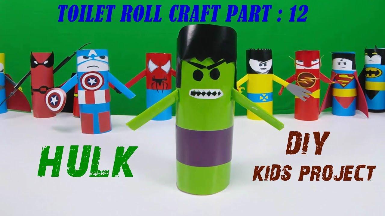 Hulk Diy Toilet Paper Roll Craft Series 12 Youtube