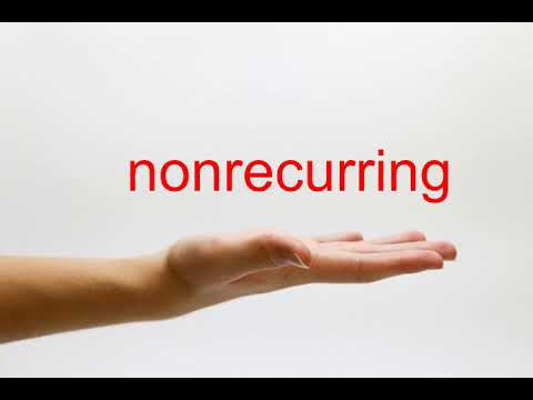 How to Pronounce nonrecurring - American English