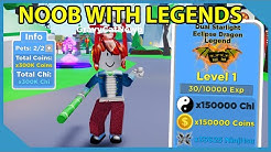 Noob With Legend Tier Pets! 300,000 Multiplier! Roblox Ninja Legends