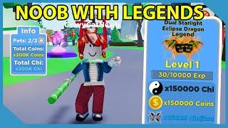 Noob With Legend Tier Pets! 300,000 Multiplier! Roblox Ninja Legends