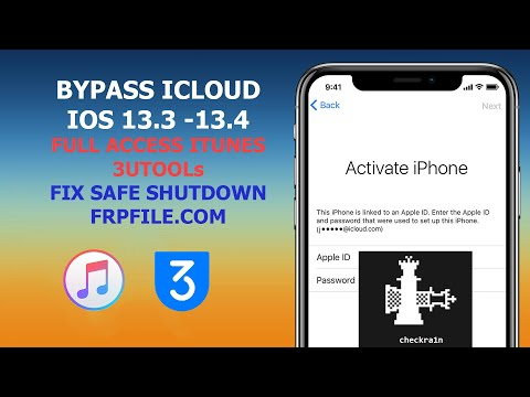 [MAC] Bypass ICloud IOS 13.3 To 13.4. 5 Full Access ITunes & 3utool Sync Media, Backup And Restore