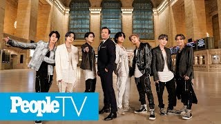 K-Pop Group BTS Performs New Single 'ON' In New York City's Grand Central Terminal | PeopleTV