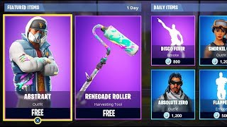 "NOUVEAU "" ABSTRAKT "" - ""RENEGADE ROLLER"" SKIN UPDATE FORTNITE! Premier LEVEL 100 OMEGA"